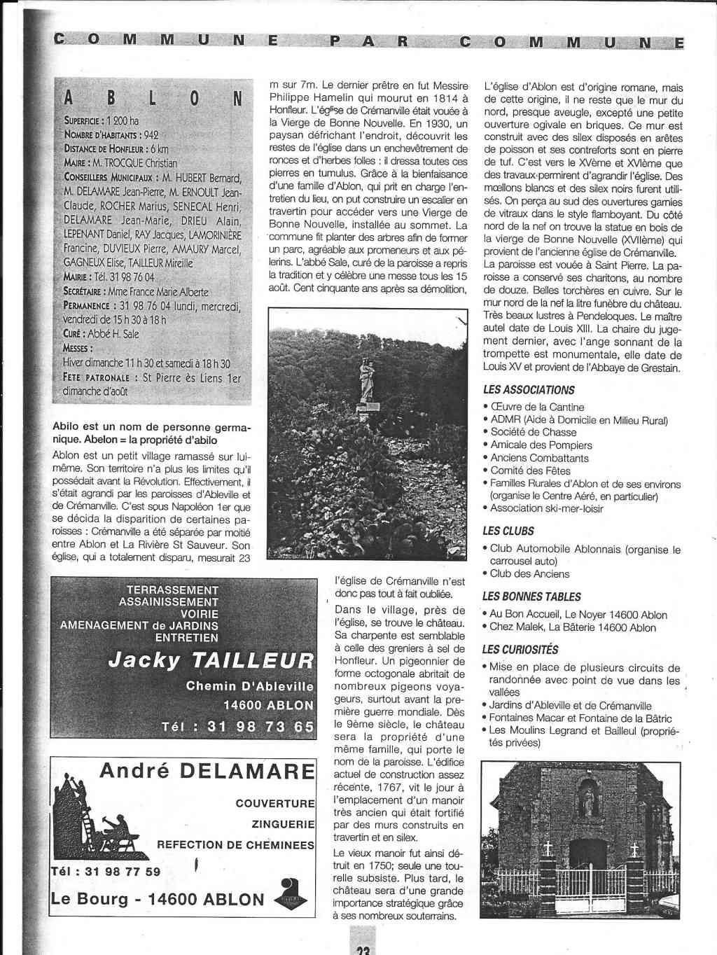 Histoire des communes - Ablon 1115