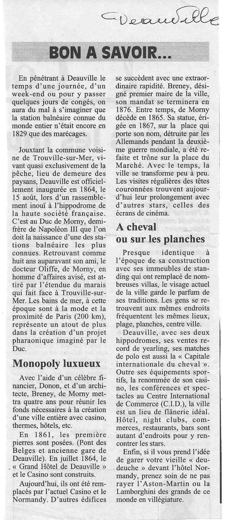 Histoire des communes - Deauville 1118