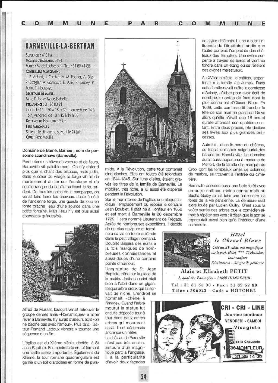 Histoire des communes - Barneville-la-Bertran 1121