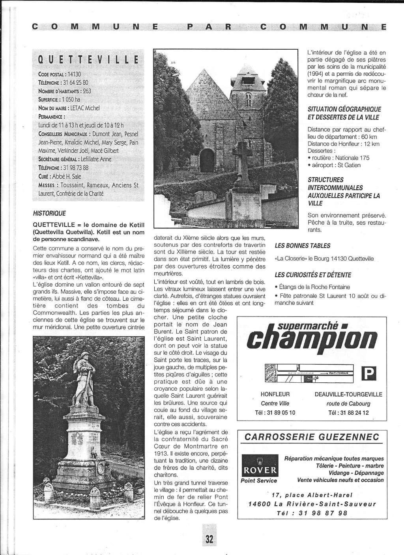 Histoire des communes - Quetteville 1123