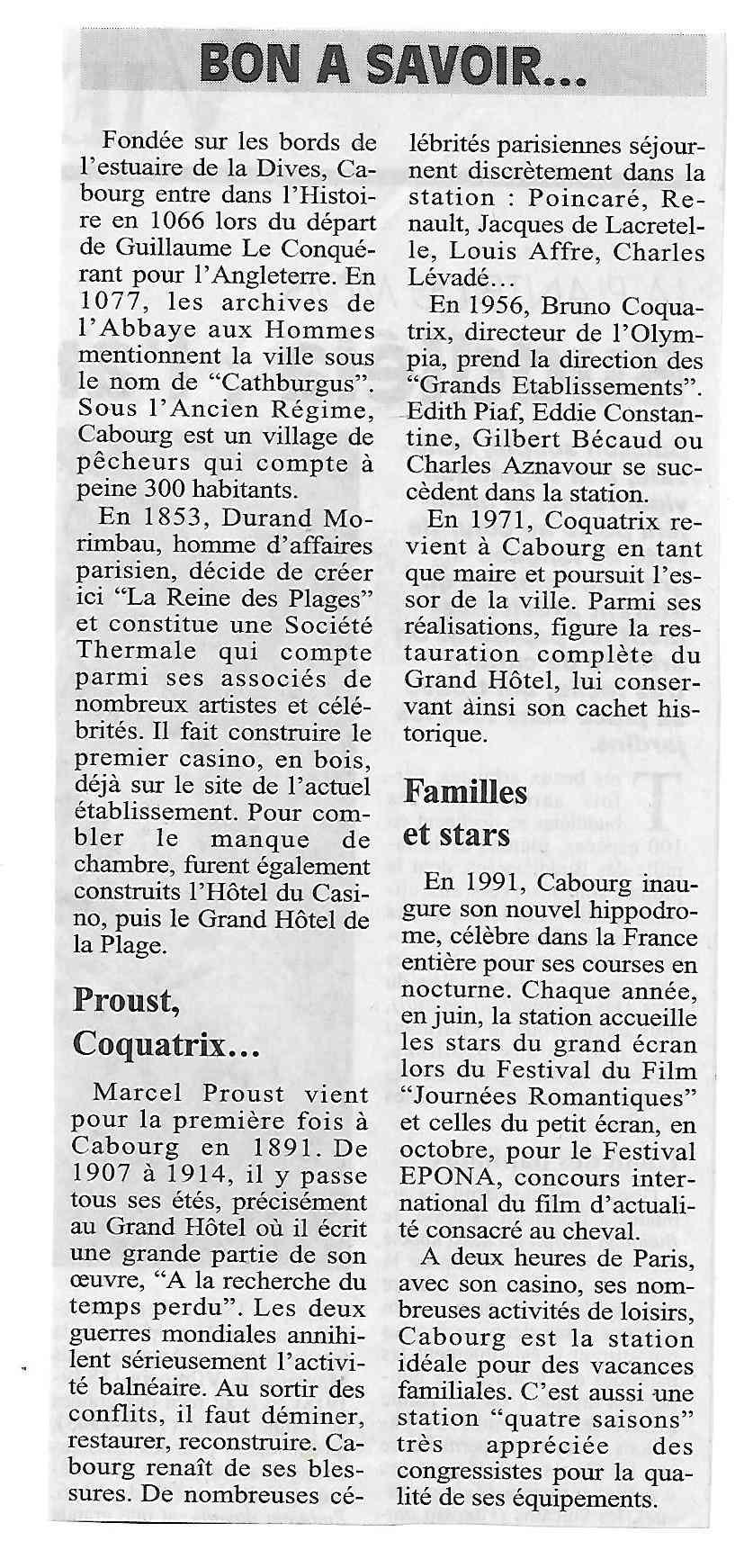 Histoire des communes - Cabourg 1125