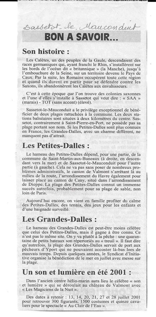 Histoire des communes - Sassetot-le-Mauconduit 114