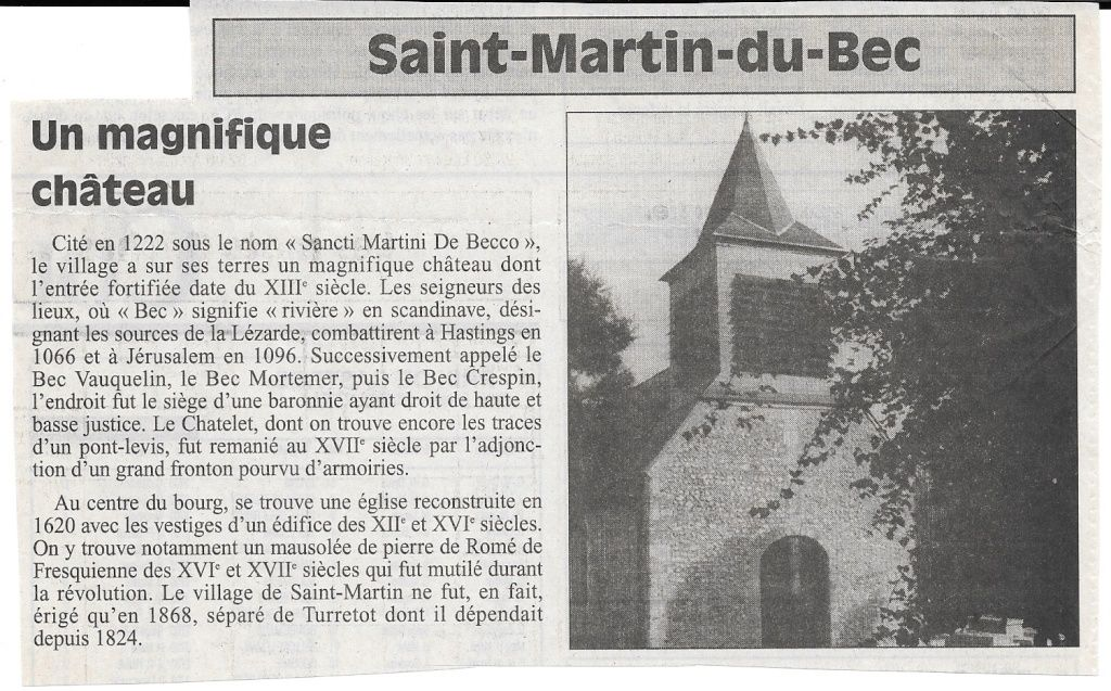 Histoire des communes - Saint-Martin-du-Bec 115