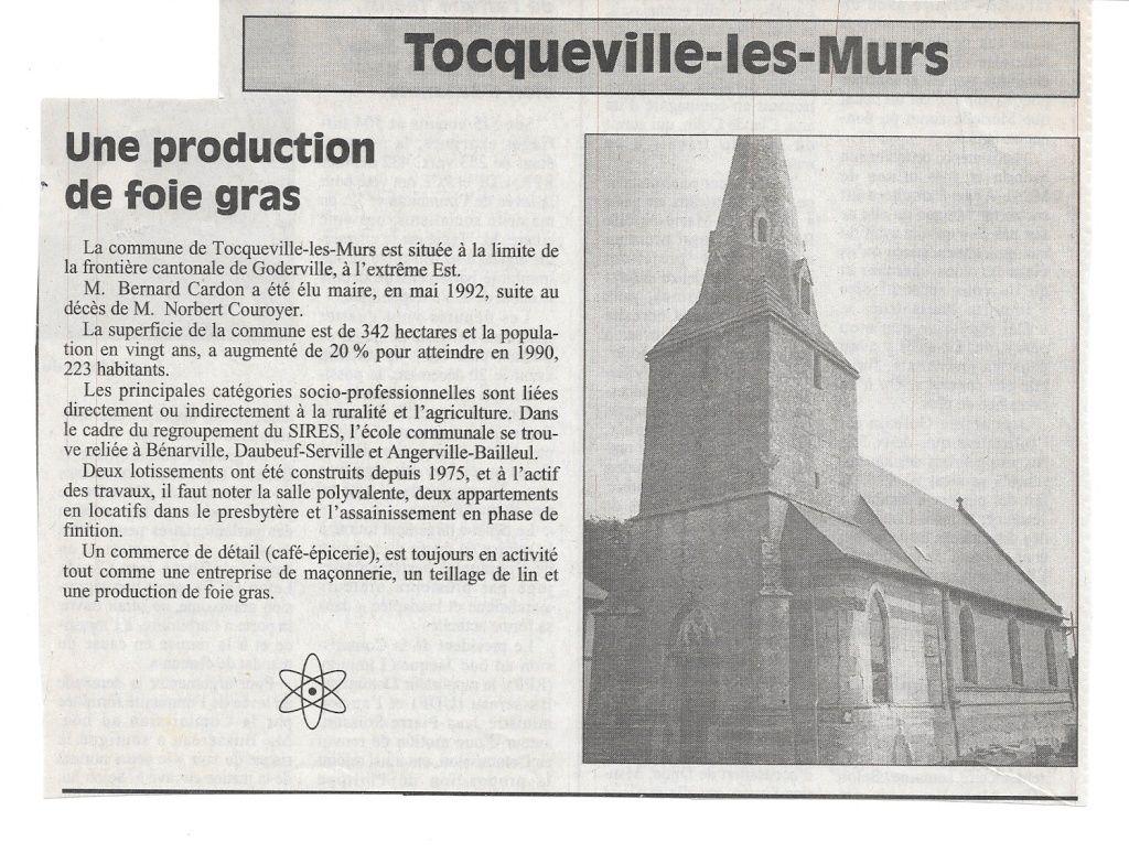 Ebran - Histoire des communes - Tocqueville-les-Murs 119