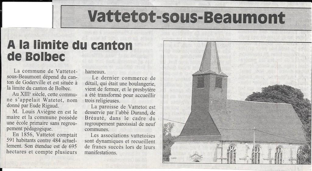 Histoire des communes - Vattetot-sous-Beaumont 141