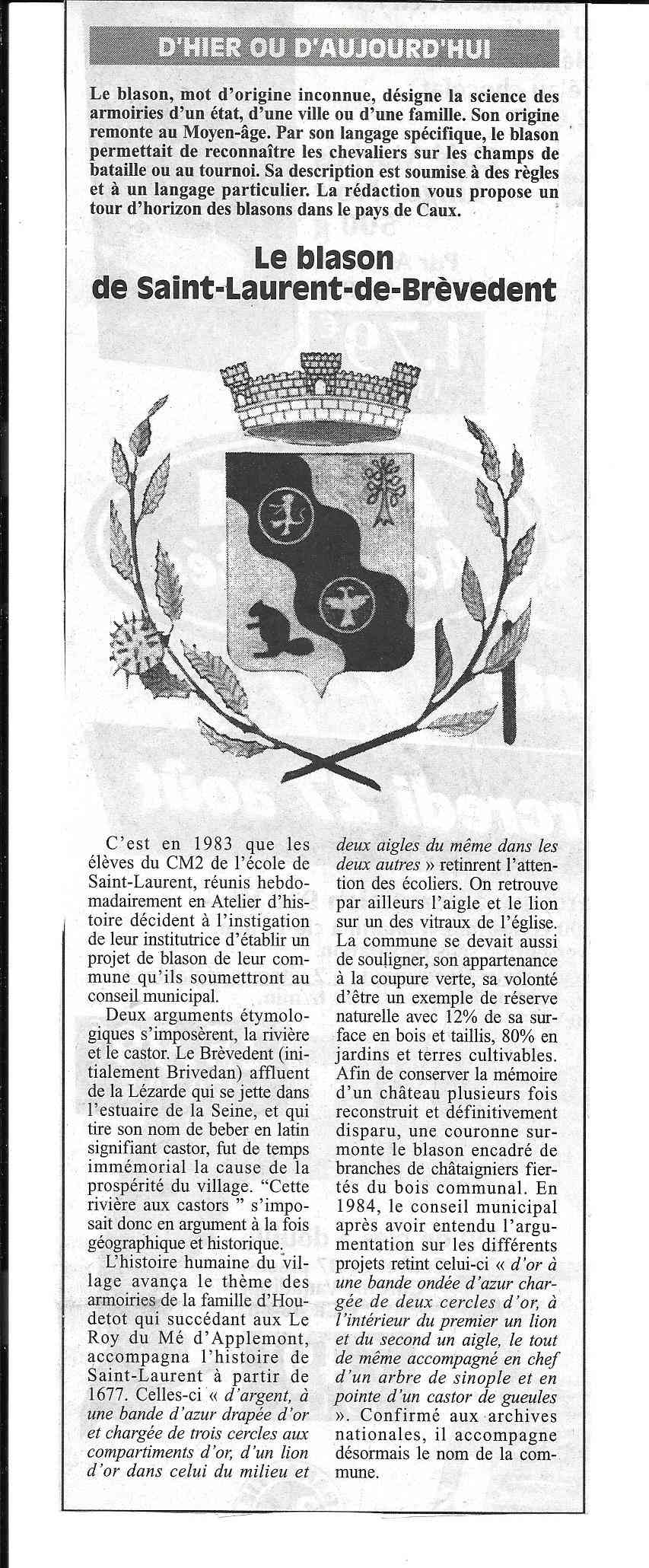 Histoire des communes - Saint-Laurent-de-Brèvedent 159