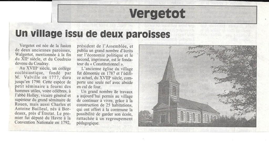 Histoire des communes - Vergetot 160