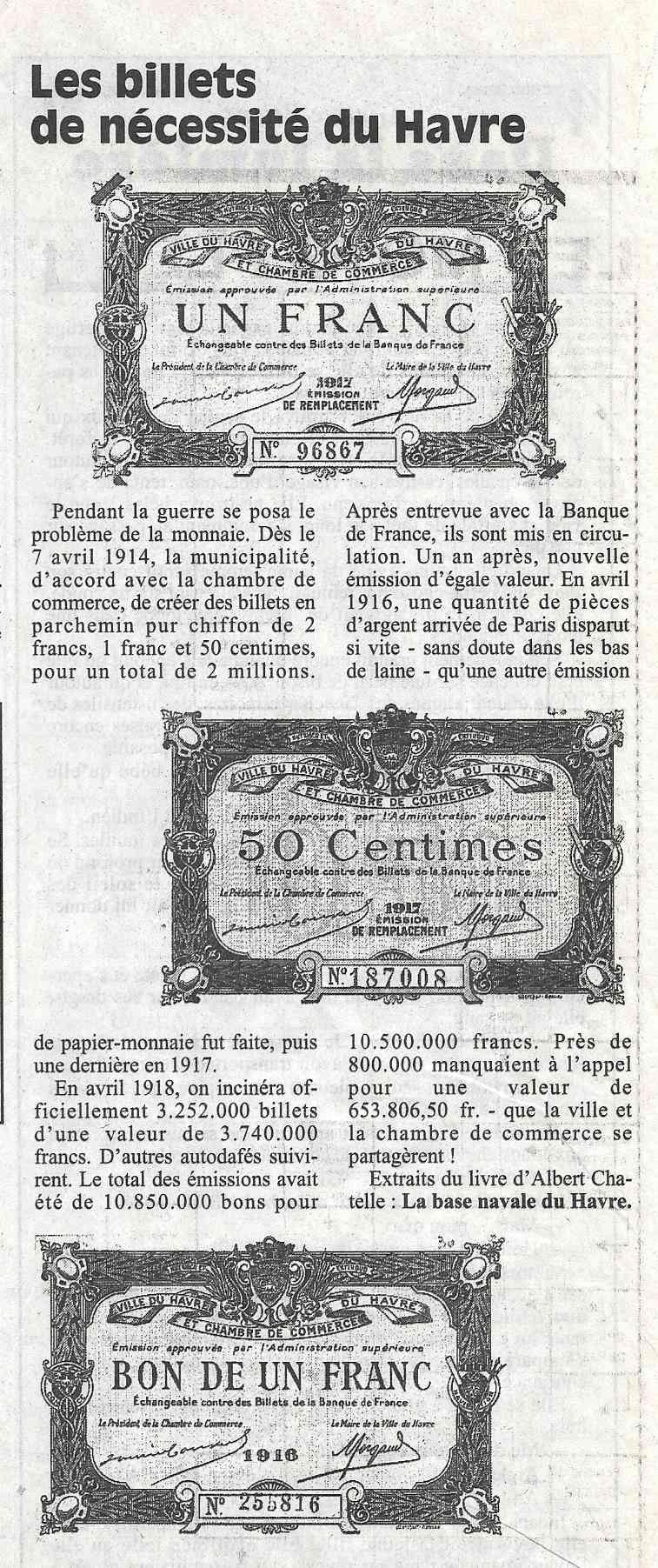Havre - Histoire de la Monnaie 163