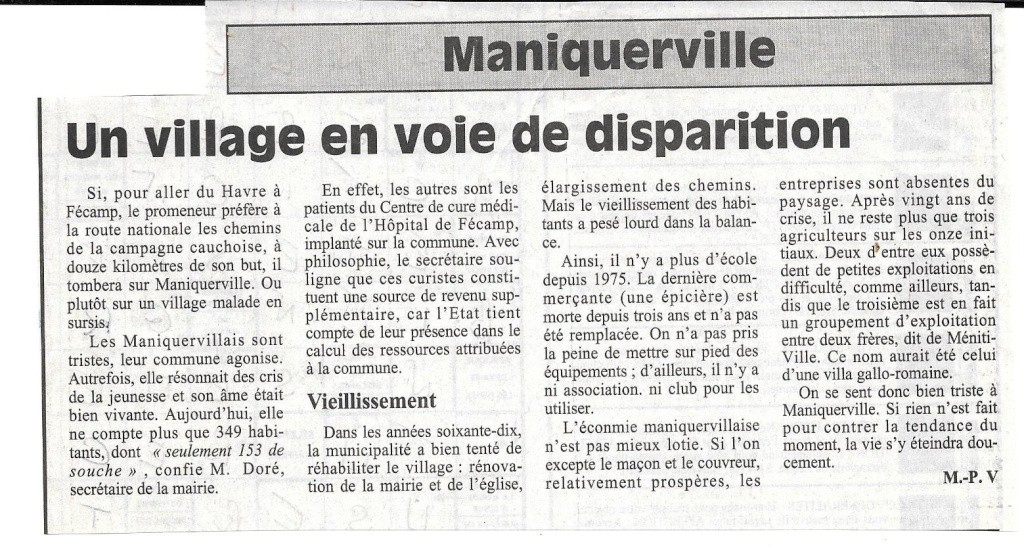 Histoire des communes - Maniquerville 172