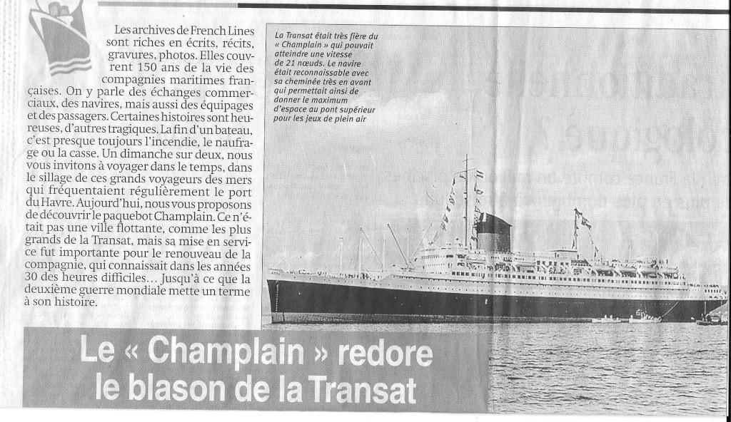 Histoire de bateaux - Le Champlain 176