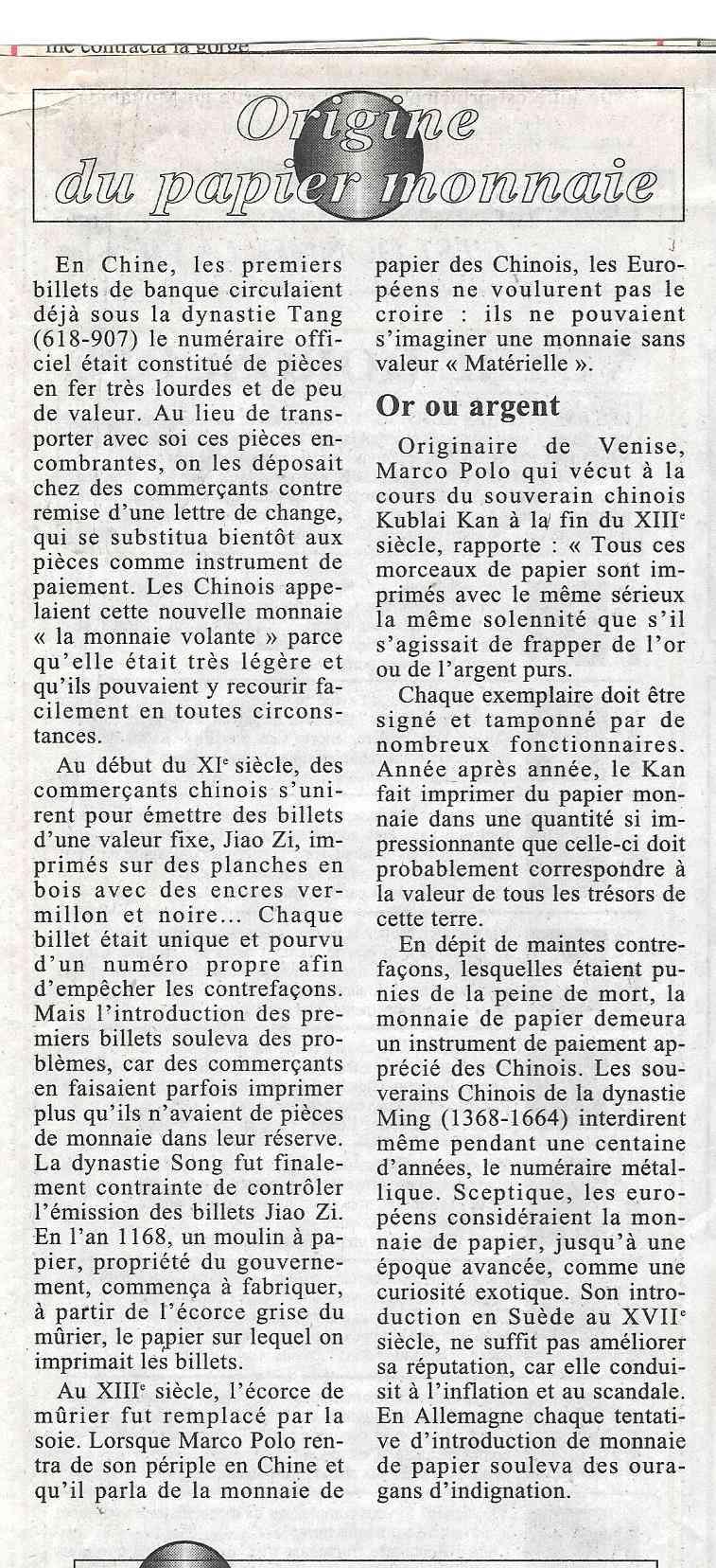 Havre - Histoire de la Monnaie 236