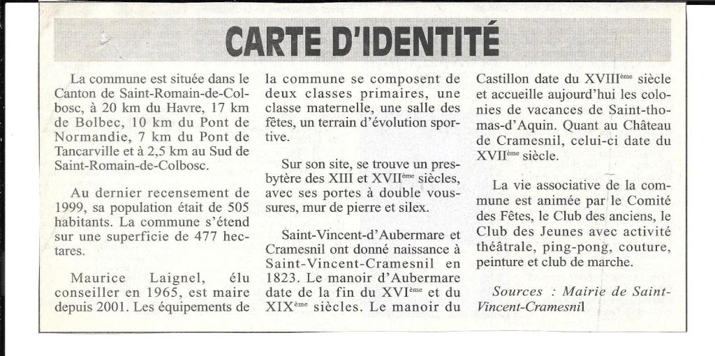 Histoire des communes - Saint-Vincent-Cramesnil 237