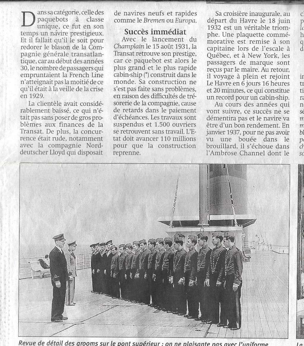 Histoire de bateaux - Le Champlain 247