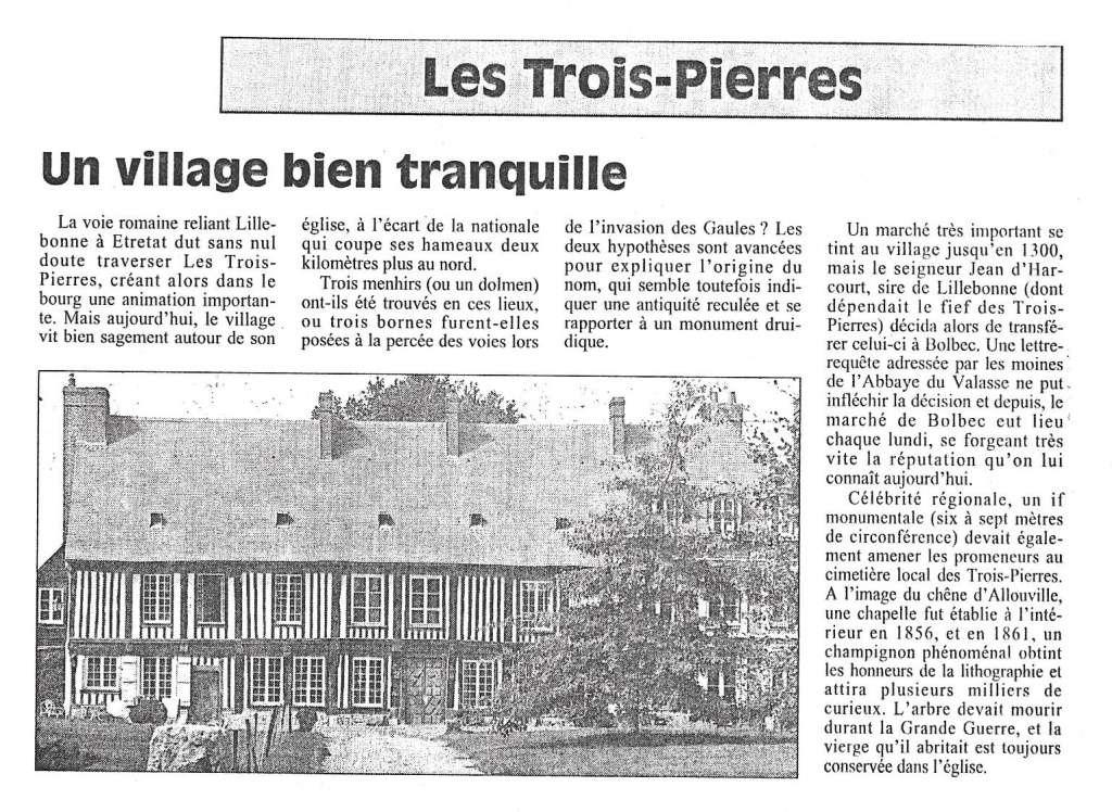 Histoire des communes - Les Trois Pierres 252