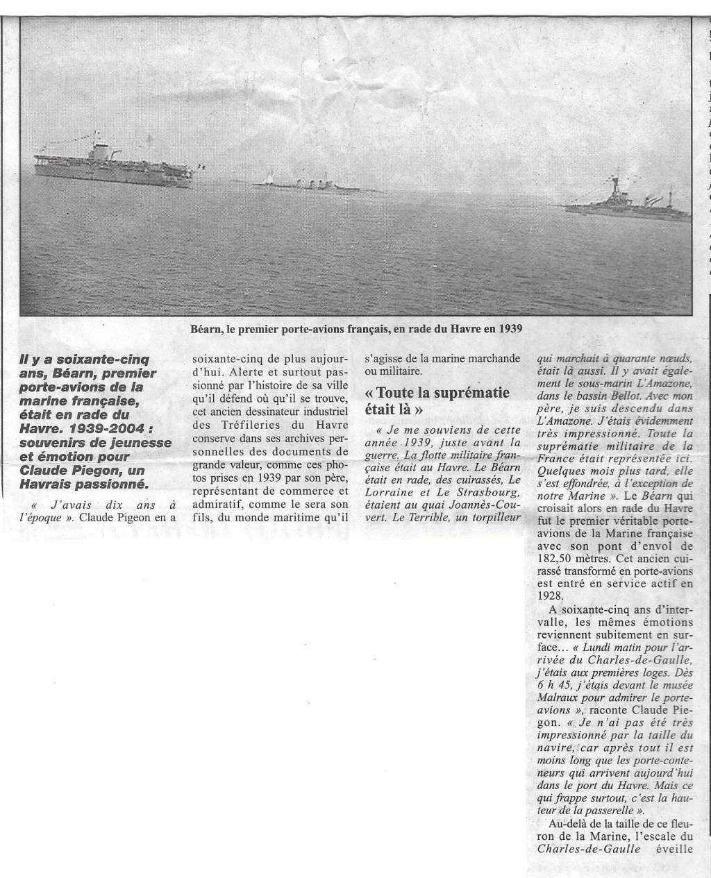 Histoire de bateaux - Le Béarn 260