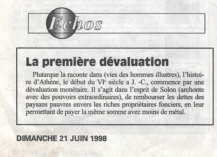 Havre - Histoire de la Monnaie 320