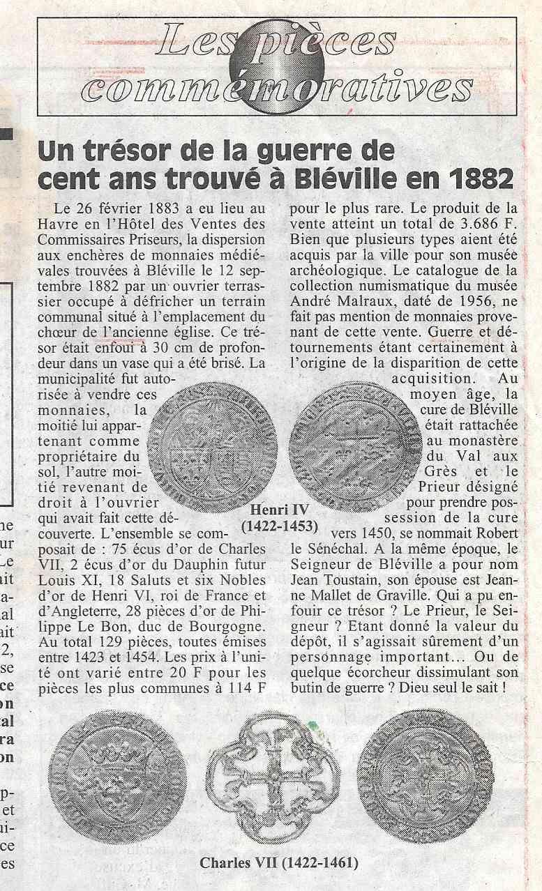 Havre - Histoire de la Monnaie 323