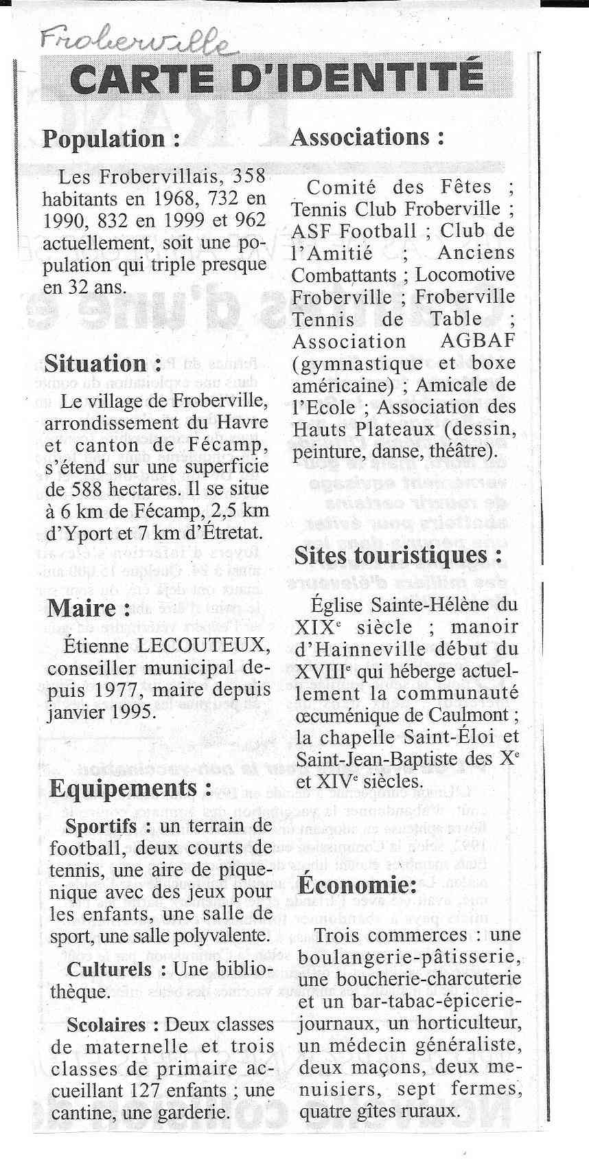 Histoire des communes - Froberville 326