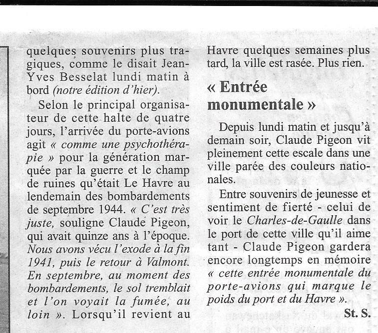 Histoire de bateaux - Le Béarn 334