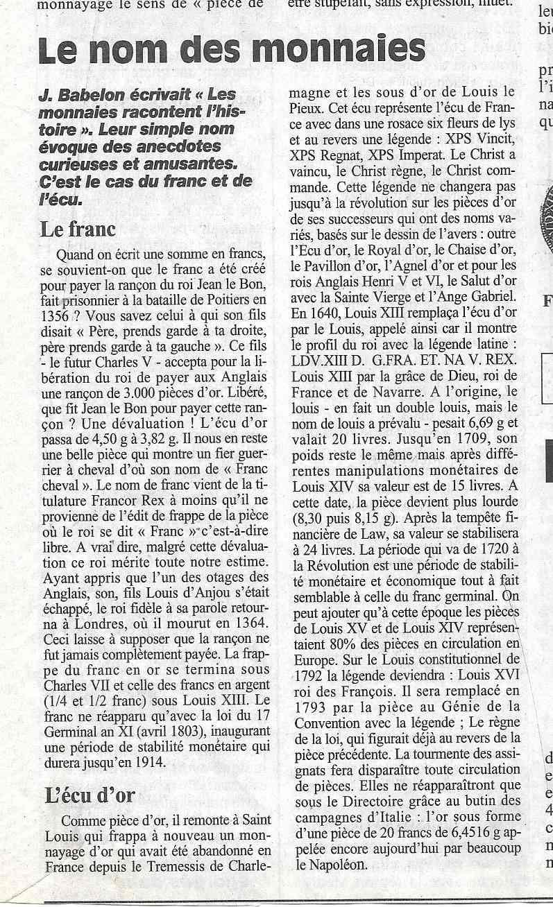 Havre - Histoire de la Monnaie 4010