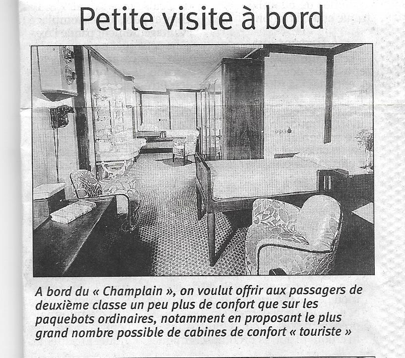 Histoire de bateaux - Le Champlain 522
