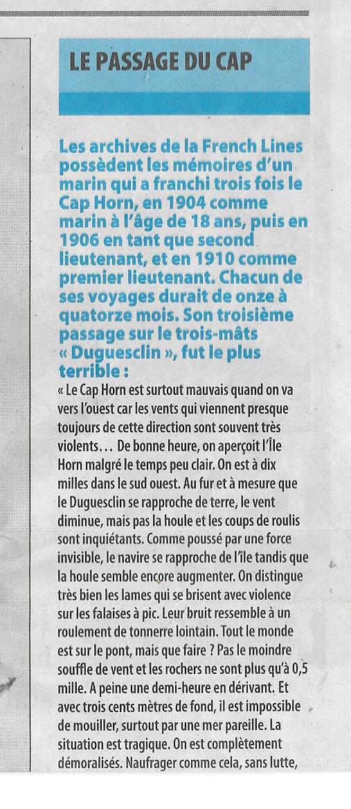 Histoire de bateaux - Les Cap-Horniers 533