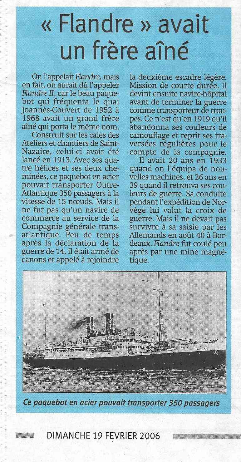 Histoire de bateaux - Le Flandre 617