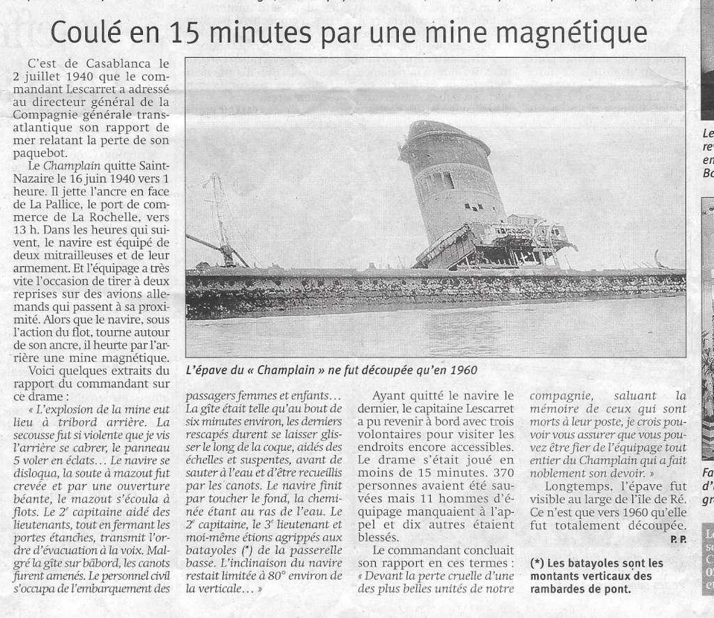 Histoire de bateaux - Le Champlain 718