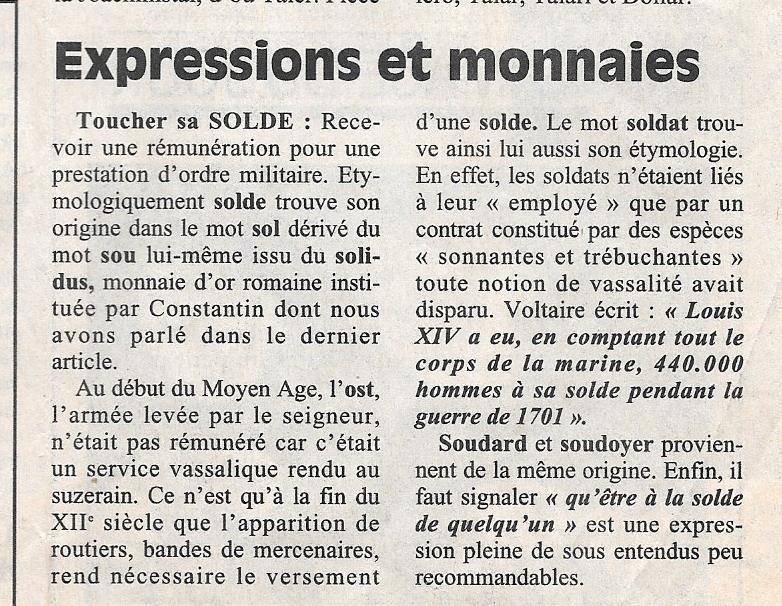 Havre - Histoire de la Monnaie 813