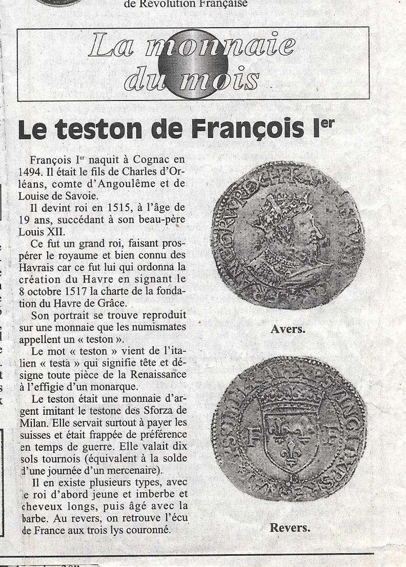 Havre - Histoire de la Monnaie 9-210