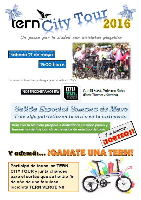TERN CITY TOUR desde MUVIN *SALIDA ESPECIAL* Flyer10
