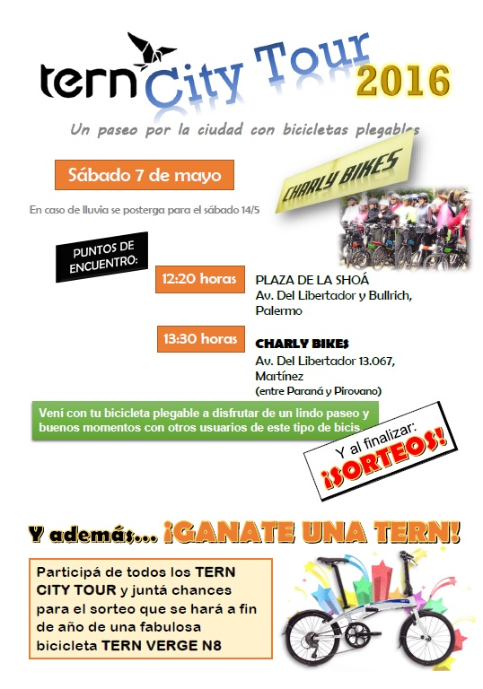 TERN CITY TOUR desde CHARLY BIKES Flyer15