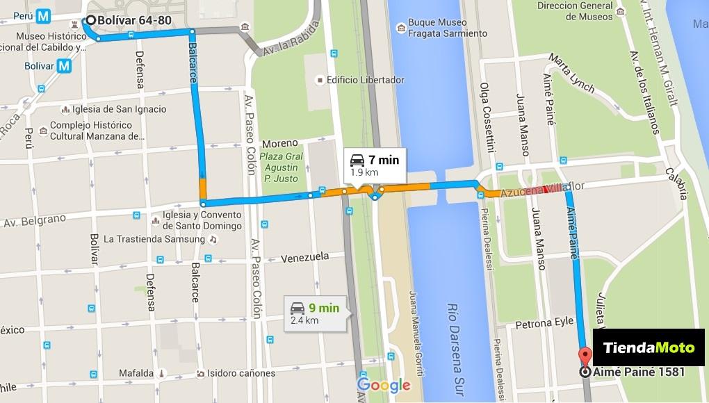 TERN CITY TOUR desde TIENDAMOTO - REPROGRAMADO 23/04 Mapa10
