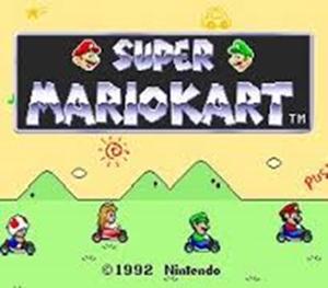 Super Mario Kart ( Super Nes ) Titre10