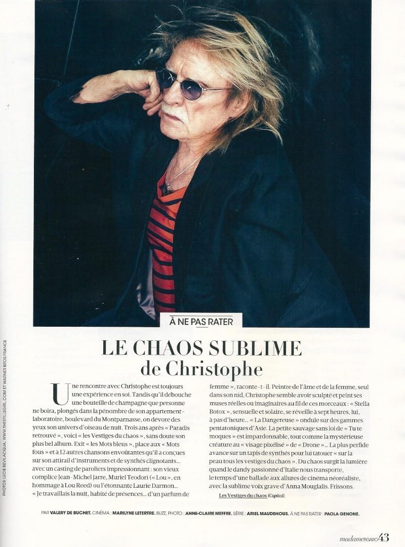 Critiques Albums Les vestiges du Chaos !  Madame10