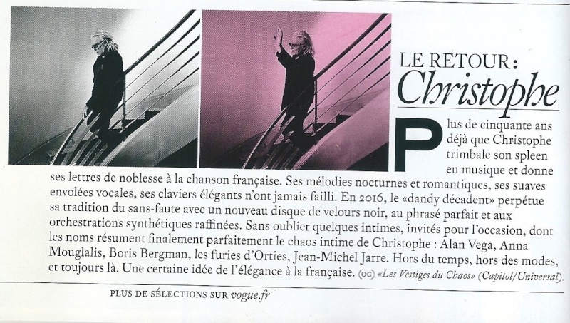 Critiques Albums Les vestiges du Chaos !  Vogue10