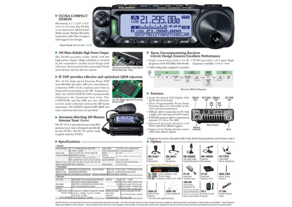 FT-891 HF RADIO Yaesu-10