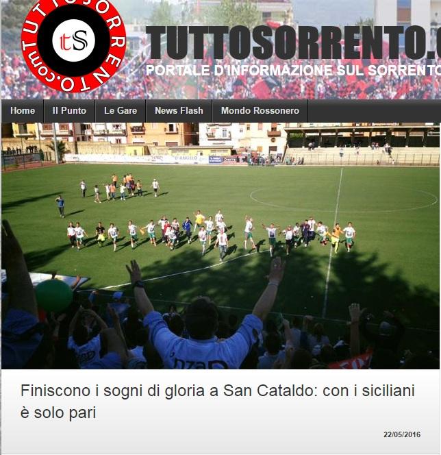 Sem. ritorno play off nazionali: Sancataldese - sorrento 1-1 110