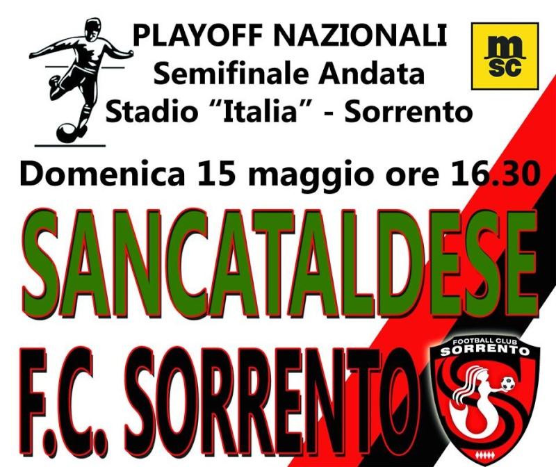 Sem. andata play off nazionali: sorrento - Sancataldese 1-3 13087710