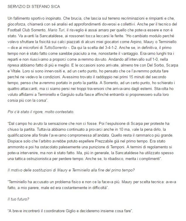 Sem. ritorno play off nazionali: Sancataldese - sorrento 1-1 211