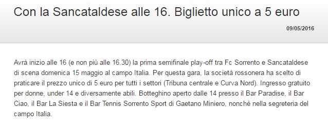 Sem. andata play off nazionali: sorrento - Sancataldese 1-3 Artico10