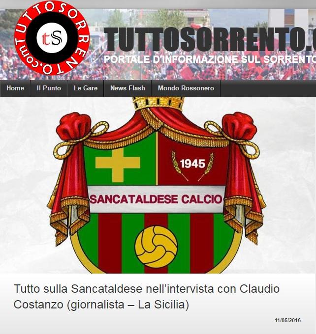 Sem. andata play off nazionali: sorrento - Sancataldese 1-3 Artico14