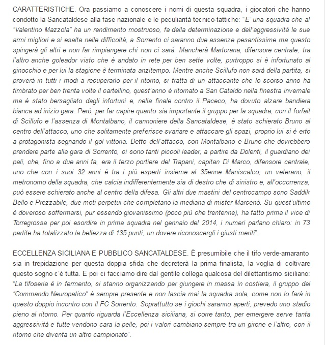 Sem. andata play off nazionali: sorrento - Sancataldese 1-3 Artico16