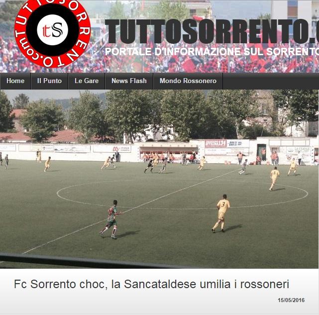 Sem. andata play off nazionali: sorrento - Sancataldese 1-3 Artico17