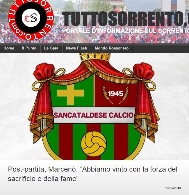 Sem. andata play off nazionali: sorrento - Sancataldese 1-3 Artico26