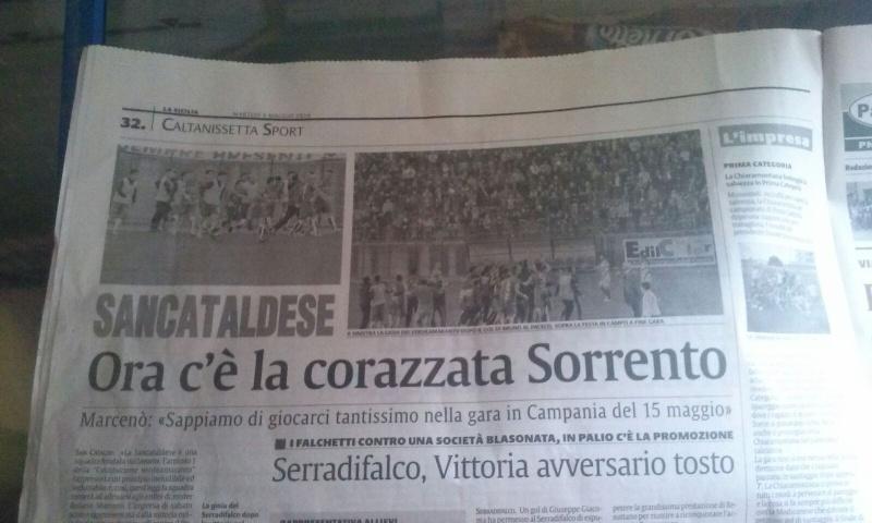 Sem. andata play off nazionali: sorrento - Sancataldese 1-3 Img-2020