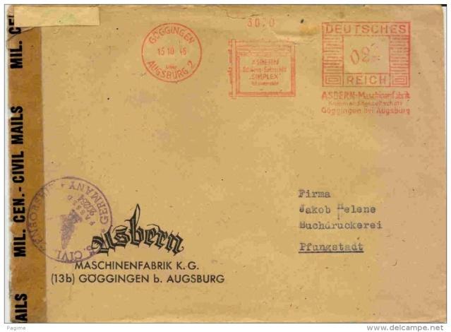 Deutsches Reich 15 octobre 1945 Deutsc11