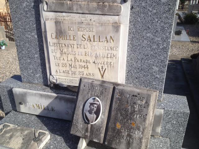 Tombe du lt C. Sallan - BIR AKHEIM Sal10