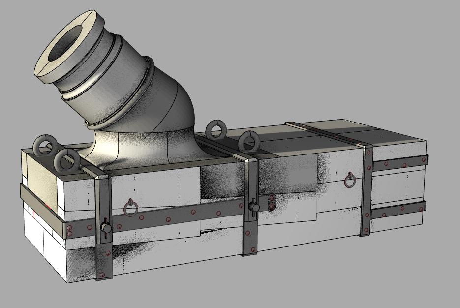 """Réalisation des mortiers de 12 à plaque pour """"La Salamandre"""" 1752. - Page 3 Rhino110"""