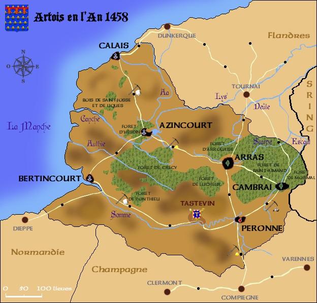 |-Parchemin 02-| La carte de l'Artois Comty_10